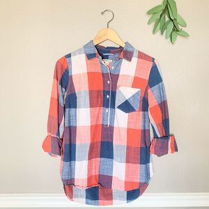 MERONA Red White & Blue Casual Button Down Size Sm